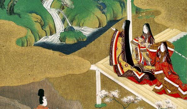 有職故実や有職文様が重んじられた公家社会の様子を描いた絵巻物。