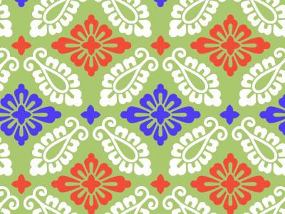 有職文様の一種「小葵」。ゼニアオイを模した文様ともいわれるが、ヨーロッパ南部が原産で江戸時代に観賞用として舶来した草木である事実を考えれば、この説は考えづらい。