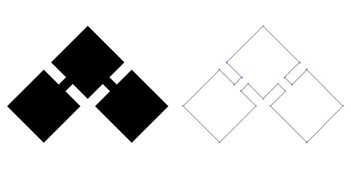 家紋・千切りの基本形。