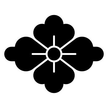 家紋・花菱。花菱紋の一種。