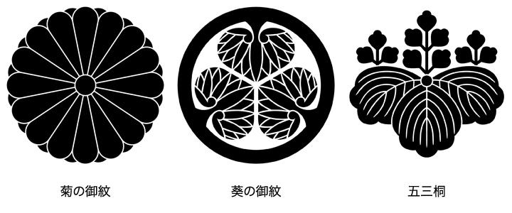 日向紋の中でも代表的な3種。それは家紋の代表的な3種でもある。