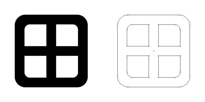 家紋・角轡。円形の十文字轡ではなく角形のもの。