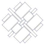 【家紋のベクターフリー素材】家紋「鱗」「銭」2種「千切り」「木」3種の素材を新規追加。