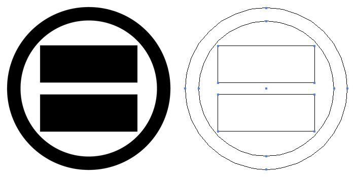 家紋・丸に二つ算木。木紋の一種。算木を二つ立てに並べて丸で囲ったもの。