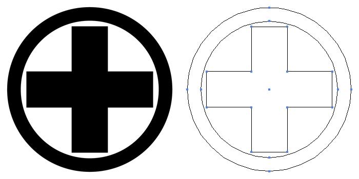家紋・丸に十の字算木。木紋の一種。算木を十の字に組んだものを丸で囲った家紋。