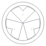【家紋のベクターフリー素材】今週は家紋「轡」と「釘抜き」を7種、新規追加。