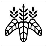 家紋・太閤桐。太閤秀吉が作ったオリジナルの桐紋。