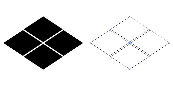 家紋・武田菱。菱紋の一種。甲斐武田氏の使用した家紋。