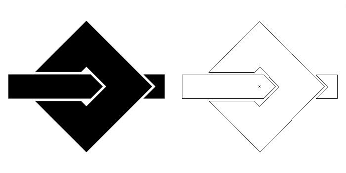 家紋・梃釘抜きに閂。この家紋のように、方形に座金に梃子棒を突っ込んで使用した。