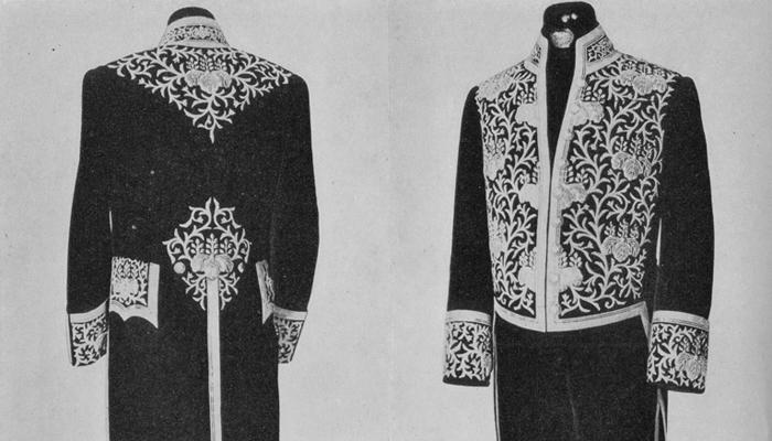 天皇から直接任ぜられる勅任官の用いる大礼服。