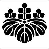 桐紋の一種。芋桐。桐の葉っぱが芋の葉っぱ?