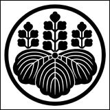 桐紋の一種。糸輪に桐花紋章。