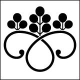 桐紋の一種。光琳鐶桐。