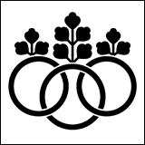 桐紋の一種。三輪桐。