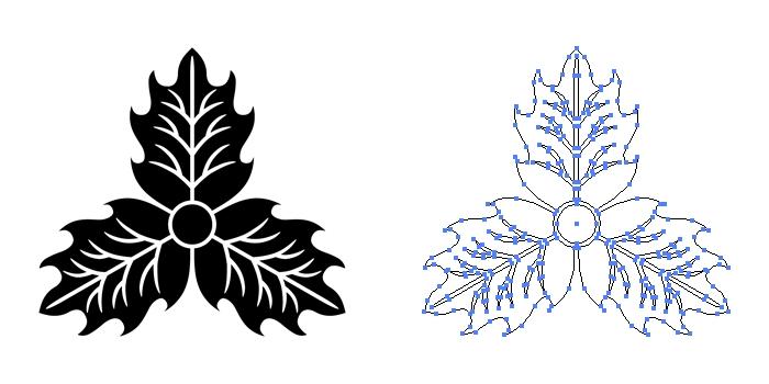 家紋・三つ柊のプレビュー画像とパス画像