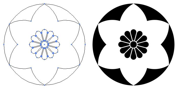 家紋・永井鉄線のプレビュー画像とパス画像