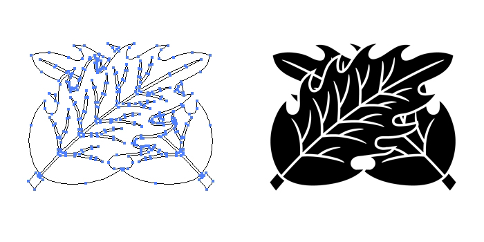 家紋・違い柊のプレビュー画像とパス画像