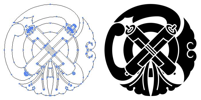 家紋・祇園守のプレビュー画像とパス画像