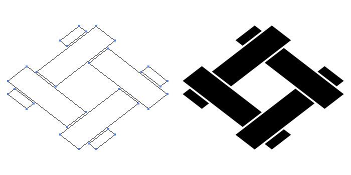 家紋・組井桁のプレビュー画像とパス画像