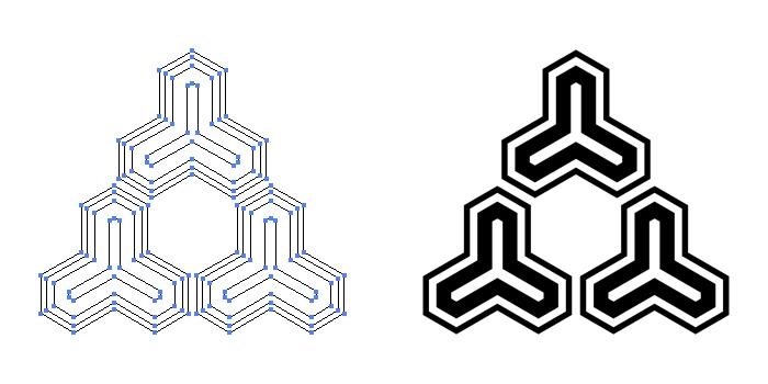 家紋・毘沙門亀甲のプレビュー画像とパス画像