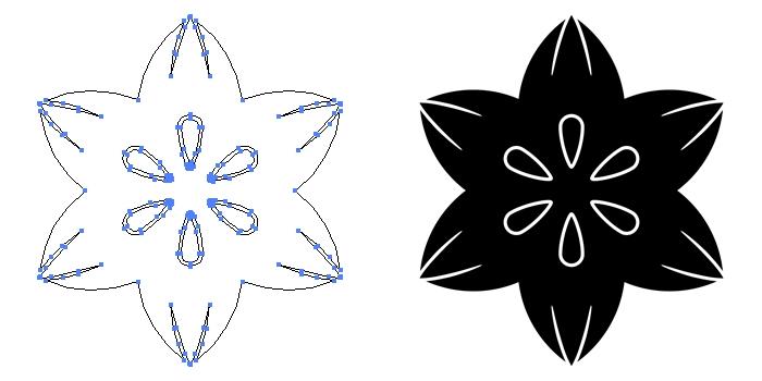 家紋・花鉄線のプレビュー画像とパス画像