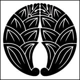 茗荷紋の一種・茗荷