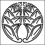 茗荷紋の一種・陰茗荷