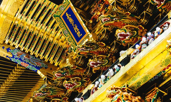 茗荷紋が神紋の摩多羅神は日光東照宮にも祀られている