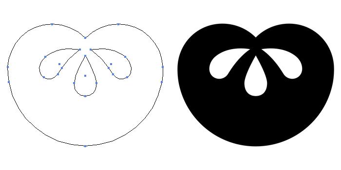家紋・団扇橘のプレビュー画像とパス画像