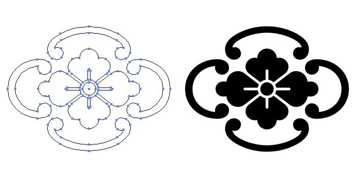 家紋・鐶木瓜のプレビュー画像とパス画像