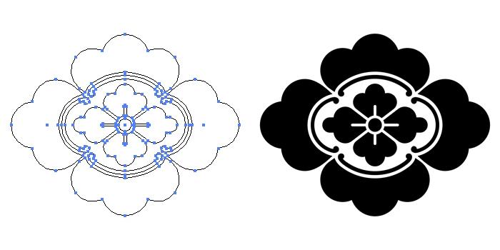 家紋・唐木瓜のプレビュー画像とパス画像