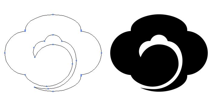 家紋・雲木瓜のプレビュー画像とパス画像