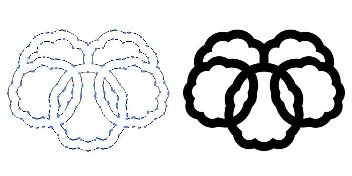 家紋・錫杖蔦のプレビュー画像とパス画像