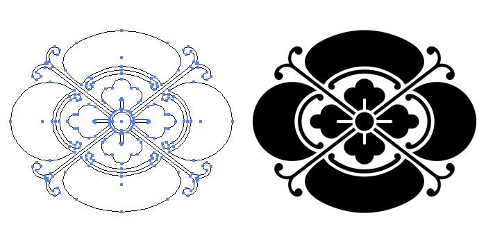 家紋・蔓木瓜のプレビュー画像とパス画像