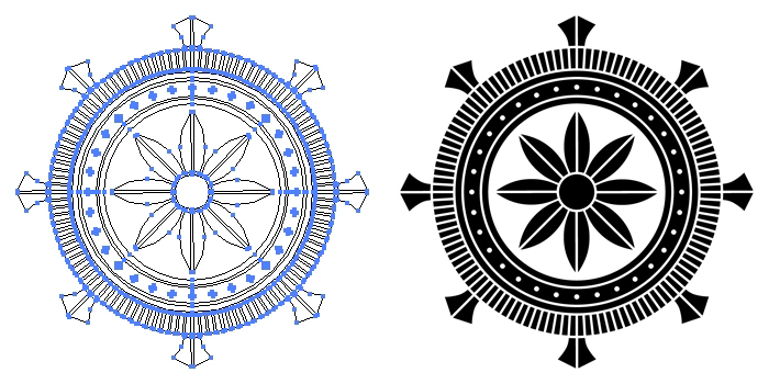 家紋・加納輪宝のプレビュー画像とパス画像