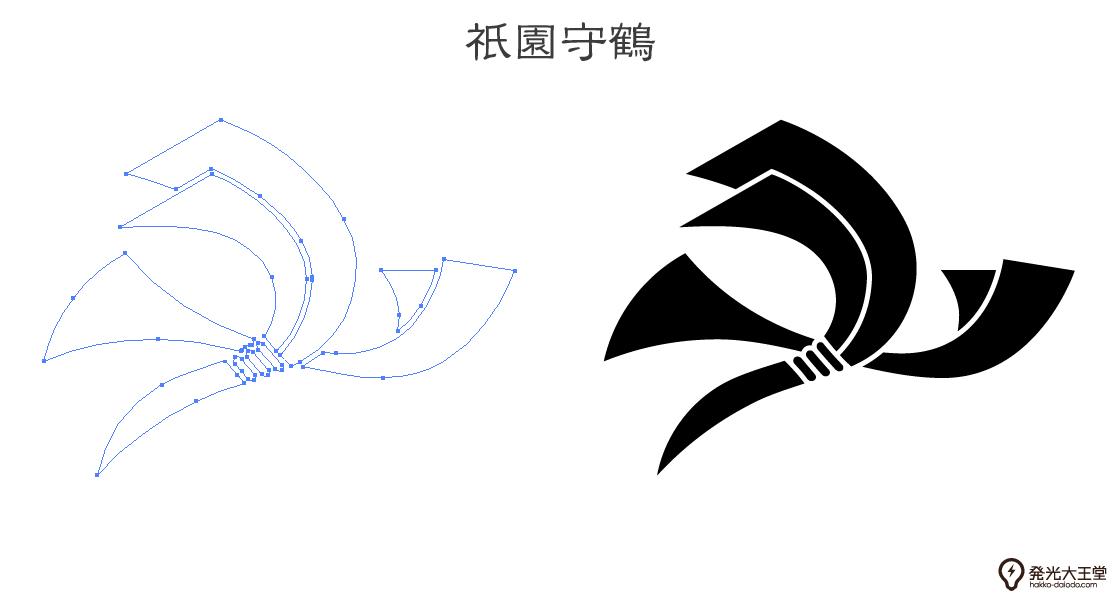 家紋・祇園守鶴のプレビュー画像とパス画像