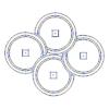 【家紋のベクターフリー素材】今週も家紋「千切り」「鱗」3種「銭」「木」2種の素材を新規追加。