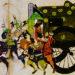 平安時代を描いた絵巻物に登場する輿車に有職文様が描かれている。このように古来より、様々な種類の有職文様が、華やかな貴族生活に用いられてきた。